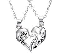 A Couple Of Hollow Love Necklace