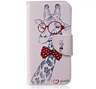 Giraffe Pattern PU Leather Material Phone Case for Samsung Galaxy J1/J1ACE/J2/J3/J5/J7/G360/G530