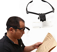 5 Lens 1.0X~3.5X Headband LED Eye Glasses Goggles Loupe Visor Magnifier