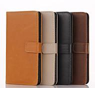 caja de la carpeta de alta calidad patrón de cuero genuino para Sony Xperia Z1 / Z3 / Z4 / m2 / M4 / T3 / C4 / E3 / E4 (colores surtidos)