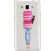 Biscuits Pattern TPU Relief Back Cover Case for Galaxy Grand Prime/Galaxy Core Prime/Galaxy J5
