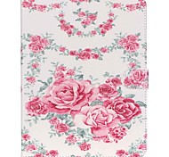 Roses Folio Leather Stand Cover Case With Stand for iPad 4/3/2
