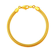 18K Gold Plated Africa Bracelet Wholesale New Fashion Rock Style 20CM 4.6MM Thick Snake Chain Bracelet Jewelry B40187