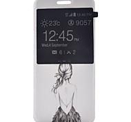 Для Samsung Galaxy S7 Edge с окошком / Флип Кейс для Чехол Кейс для Соблазнительная девушка Искусственная кожа SamsungS7 plus / S7 edge /