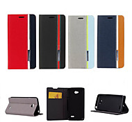 Retro Fashion Deluxe Leather flip Wallet Stand Case For LG L70