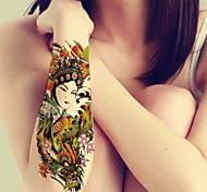 BR - Tatuajes Adhesivos -Non Toxic / Modelo / Talla Grande / Brillante / Pistola / Tribal / Parte Lumbar / Waterproof / 3D / Navidad /