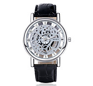 High Quality Precise Business Gold Plate PU Leather Strape Watch with Exquisite Quartz Watch for Men Wrist Watch Cool Watch Unique Watch