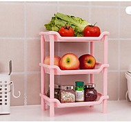 Three-tier Racks Kitchen Bathroom Rectangular Corner Shelf