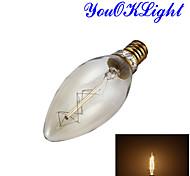 1 pezzo YouOKLight E14 25W 1 COB 250 LM Bianco caldo B edison Vintage Lampadine globo LED AC 220-240 V