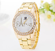 Ladies' Watch Casual Fashion Pattern Diamond Steel Quartz Watch Tower
