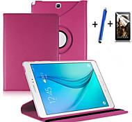 """nueva rotación de la cubierta del caso del soporte de cuero de la PU 360 para Samsung Galaxy Tab 9,7 """"tableta SM-T550 + stylus + film"""