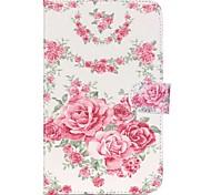 rozen folio lederen stand beschermhoes met standaard voor Samsung Galaxy Tab 7.0 4 t230 T231 T235