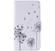 Black Dandelion Painted PU Phone Case for Samsung Galaxy A3(2016)/A5(2016)/A7(2016)