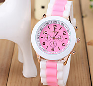 Women's Fashion Watch Silicone Macaron Ice Cream Mixed Colors Cool Watches Unique Watches