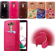 PU Leather Back Cover Graphic / Cartoon / Special Design case cover for LG G3/G4 (Assorted Colors)