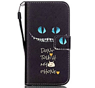 Cats Eyes Pattern PU Material Card Lanyard Case for Samsung Galaxy S7/S7Edge