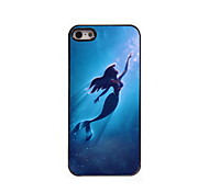 Mermaid Design Aluminum Hard Case for iPhone 5/5S
