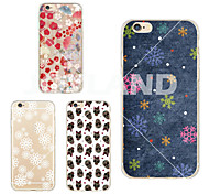 MAYCARI®Static Snow Transparent TPU Back Case for iPhone 6//iphone 6S(Assorted Colors)