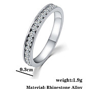 Ring Fashion Party Jewelry Alloy / Cubic Zirconia Women Band Rings 1pc,One Size Silver