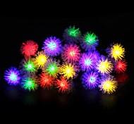 King Ro 6.6ft 20LED Battery Operated Chuzzle Ball LED Christmas String Lights (KL0060-RGB,White,Warm White)