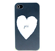 White heart Pattern Hard Case for iPhone 4/4S