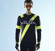 MYSENLAN Bike/Cycling Jersey / Tops Men's Long Sleeve Breathable Polyester / Terylene Green / Dark Blue M / L / XL / XXL / XXXL
