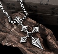 Cross Restoring Ancient Ways is Exaggerated Men Titanium Steel Pendant Necklace