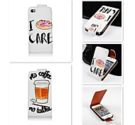 The Letter Patten Up-down Turn Over PU Leather Full Body Case for iPhone 4/4S