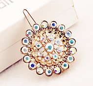 Sunflower diamond mosaic luxury alloy hairpin