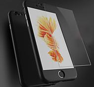 cubierta de la PC de cuerpo completo con pantalla de vidrio templado protector para el iphone 6 / 6s (colores surtidos)