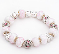 Fashion Jewelry Bracelets&brangle Glass European Beads bracelets for Women Gift Strand Beads bracelets BLH072