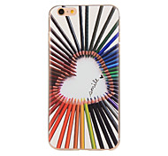 Colorful Love Pattern TPU Soft Case Phone Case for iPhone 6/6S