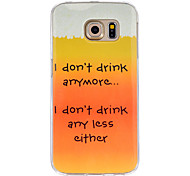I don't drink Pattern TPU Painted Soft Back Cover For  Galaxy S5/Galaxy S6/Galaxy S6 edge