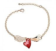 Hot New Charming Lovely Simple Bling Elegant Heart Bracelet Bangle Party Jewelry For Women