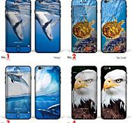 """iphone 6 / 6с тела наклейка кожа искусства: """"китов, морских черепах, дельфинов, белоголовый орлан"""" (животные серии)"""