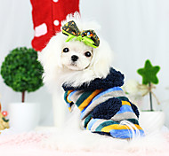 Dog Coat Yellow / Dark Blue Dog Clothes Winter Fashion