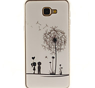 Couples dandelion Pattern TPU+IMD Soft Case for Samsung Galaxy A9/A9000