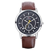 Authentic moment Leather watch Waterproof Watch men/women Watch quartz watch silver case 4 band Color WH0011