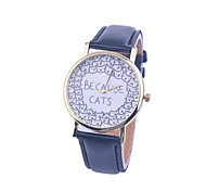 Unisex BECAUSE CATS Style Watch/Vintage Watch/Ladies Watch/ Women Premium Faux Leather Wristwatch Cool Watches Unique Watches