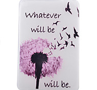 Dandelion Pattern TPU Soft Back Tablet Case for iPad Air 2/iPad 6