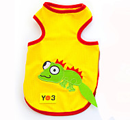 Red / Black / Yellow  Cotton T-Shirt for Dogs / Cats - Lovoyager
