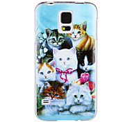All Kinds of Cat IMD+TPU Back Case for Samsung Galaxy S5