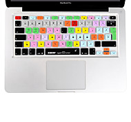 XSKN Final Cut Pro 7 Silicone Laptop Keyboard Cover Skin for Macbook Air 13 inch, Macbook Pro 13 15 17 Inch, EU Layout