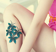 Clover Flowers Red Blue Color Waterproof Flower Arm Temporary Tattoos Stickers Non Toxic Glitter