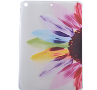 Colorful Flowers Half Pattern TPU Soft Back Tablet Case for iPad Air/iPad 5