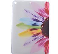 fleurs colorées demi-motif tpu doux cas de retour de la tablette pour l'air d'ipad / ipad 5