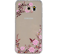 bloempatroon TPU hulp Cover Case voor Galaxy s5 / galaxy s6 / galaxy s6 edge / galaxy s6 rand plus