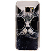 Cat Pattern PU Soft Case Phone Case For Samsung Galaxy S4/S5/S6/S6 edge+/S7