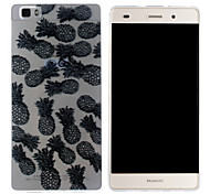Mobile Shell funda protectora cáscara suave de TPU transparente patrón de la piña para Huawei p8 Lite