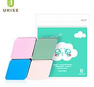 Powder Puff/Beauty Blender Natural Sponges 4pcs Quadrate 5x5cm Set Blue / Green / Pink